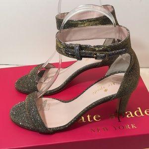 Kate Spade Bronze Lurex Heels Sandals Size 5 M